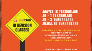 ib revision classes, ib tekrar dersleri, ib review, hızlandırılmış ib kursu