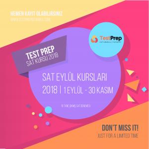 test prep sat hazırlık kursu eylül 2018